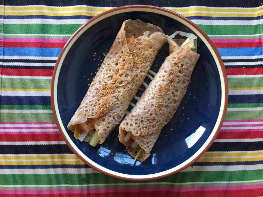 Crepes de trigo sarraceno de Tam Pinco